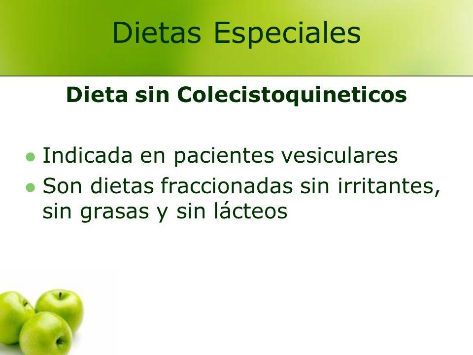 Dieta sin Colecistoquineticos