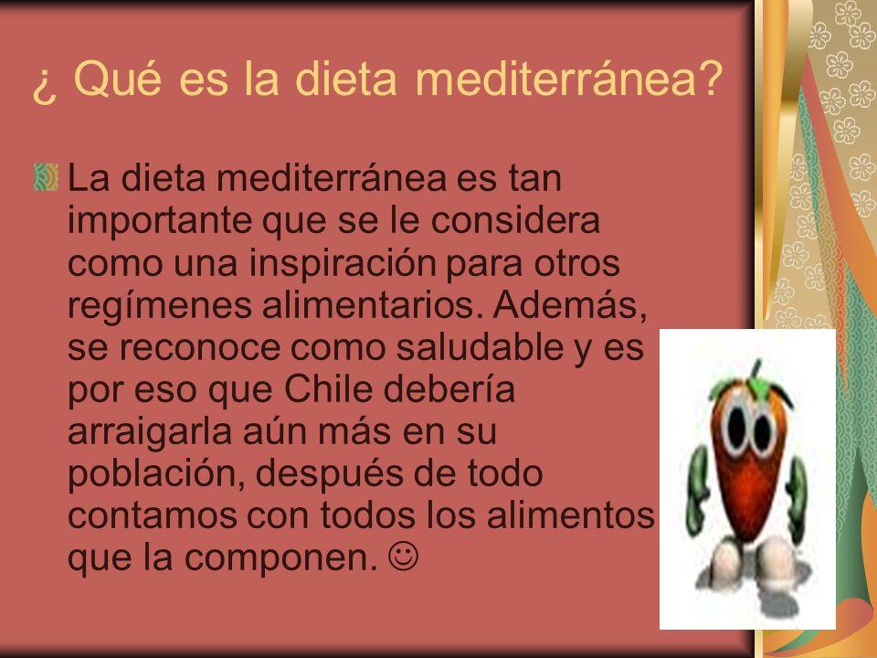 ¿ Qué es la dieta mediterránea