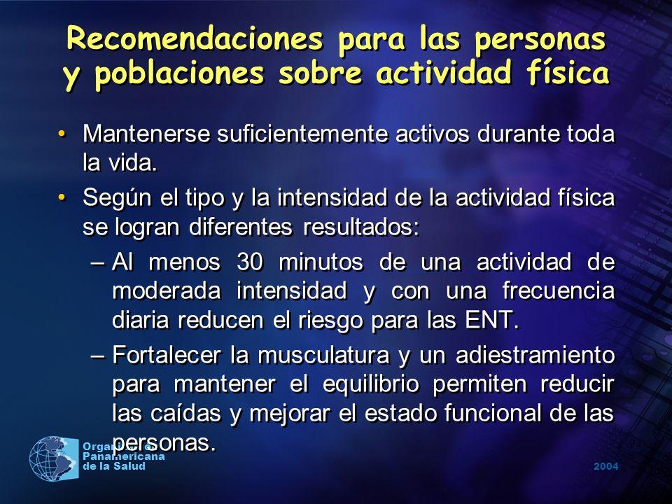Recomendaciones para las personas y poblaciones sobre actividad física
