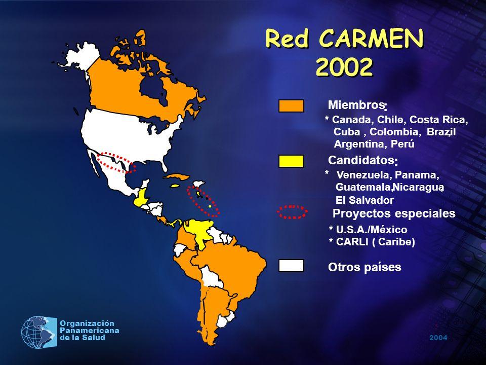 Red CARMEN 2002 . : Miembros Candidatos Proyectos especiales
