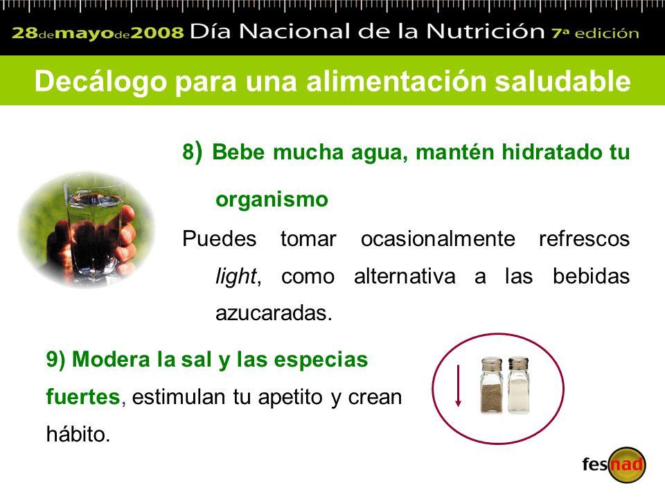 Decálogo para una alimentación saludable
