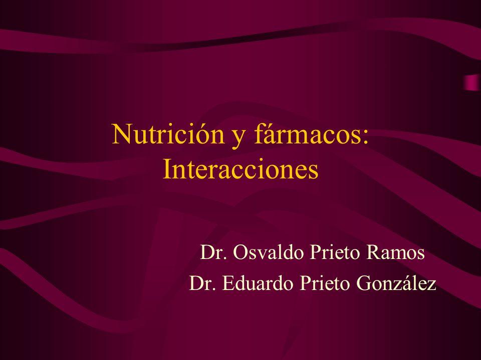 Nutrición y fármacos: Interacciones