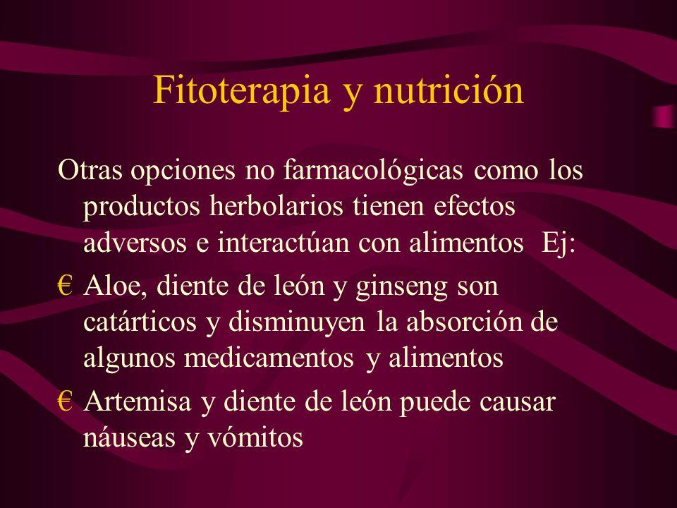 Fitoterapia y nutrición