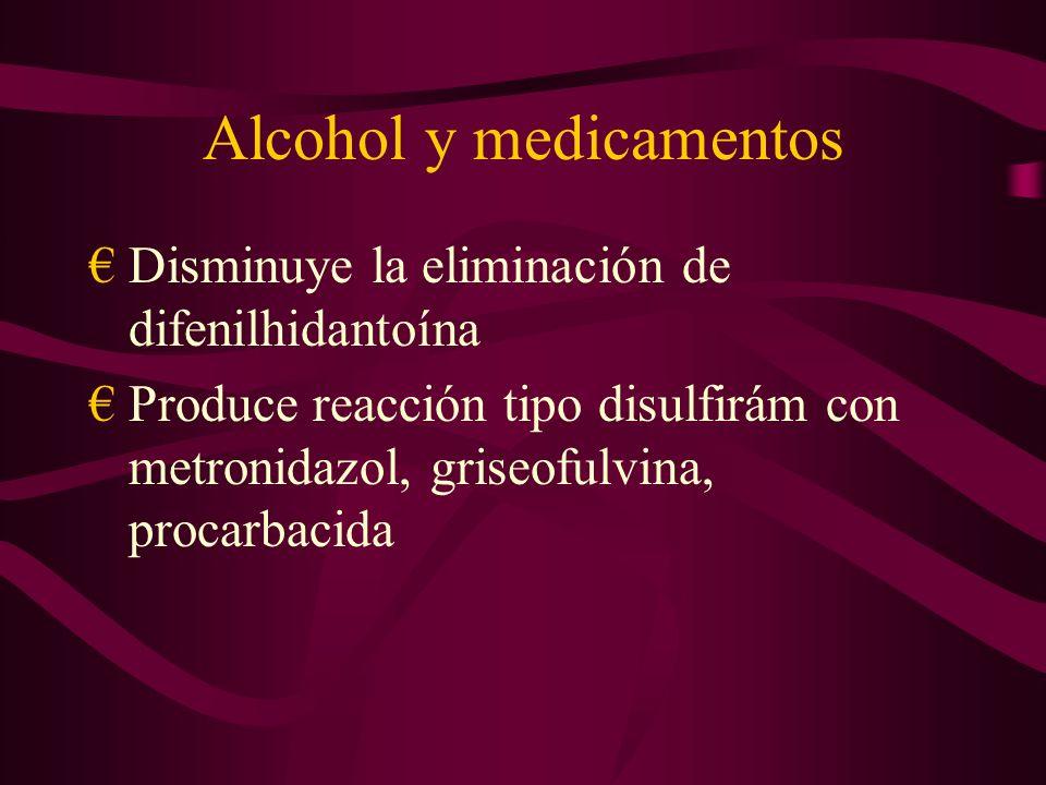 Alcohol y medicamentos
