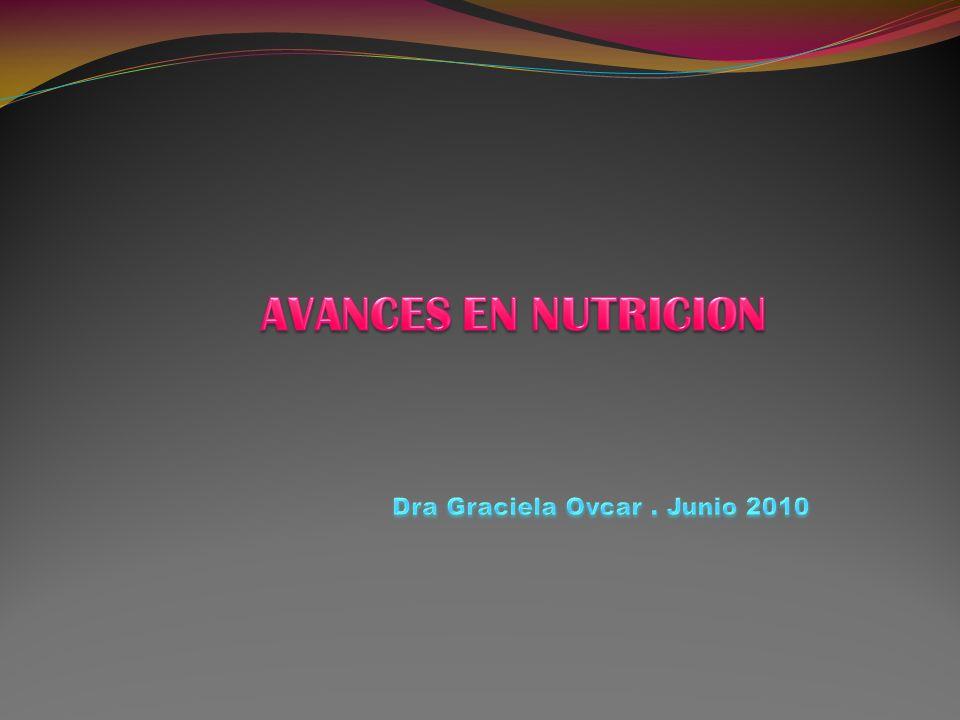 AVANCES EN NUTRICION Dra Graciela Ovcar . Junio 2010