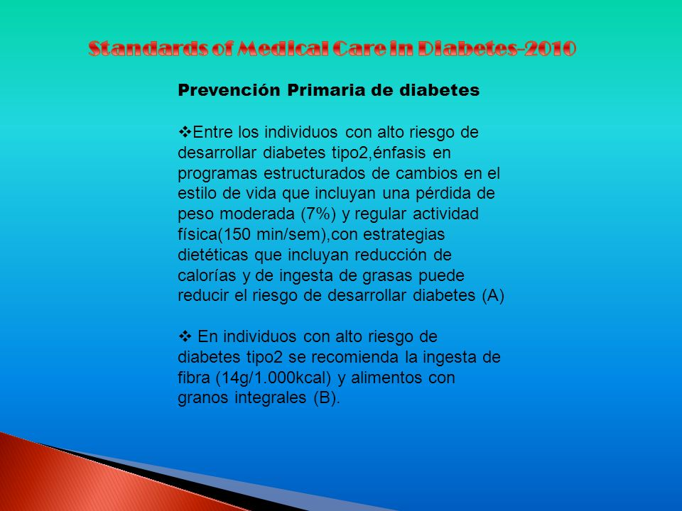 Standards of Medical Care in Diabetes-2010