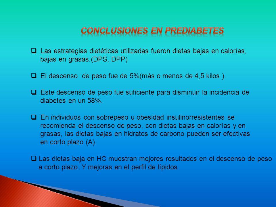 Conclusiones en prediabetes