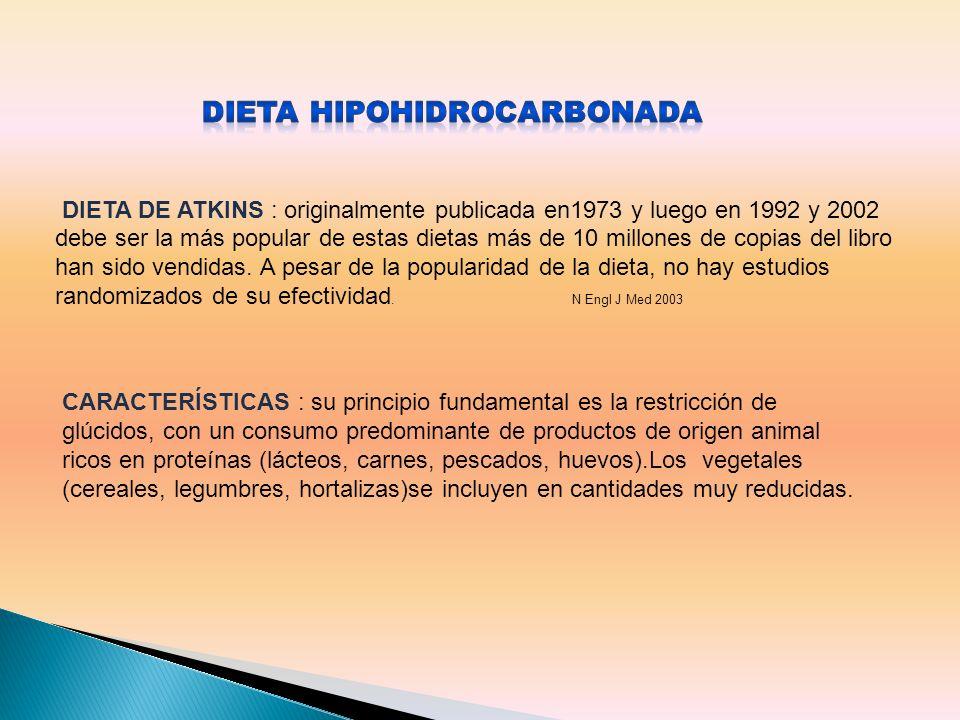 DIETA HIPOHIDROCARBONADA