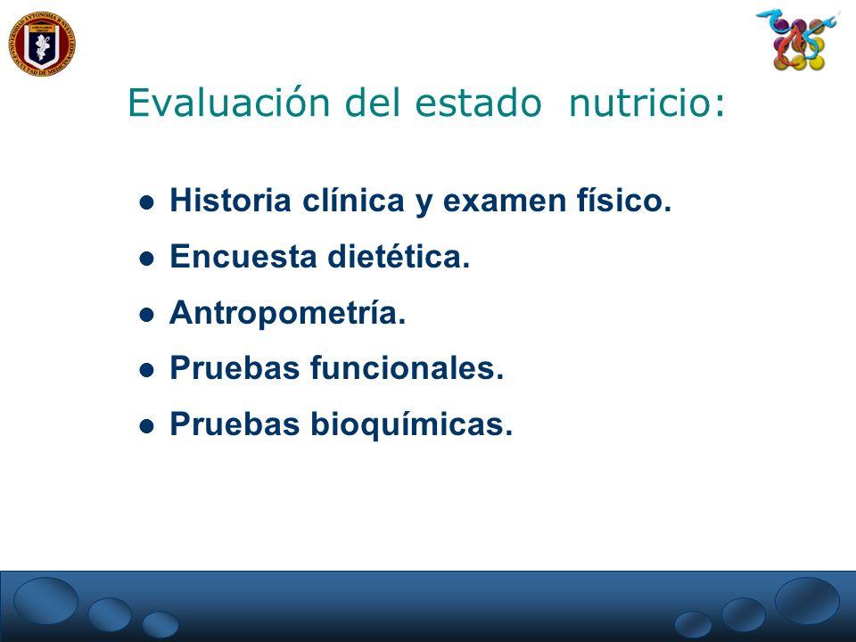 Evaluación del estado nutricio: