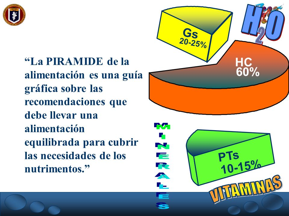 H O 2 VITAMINAS Gs HC 60% PTs 10-15%