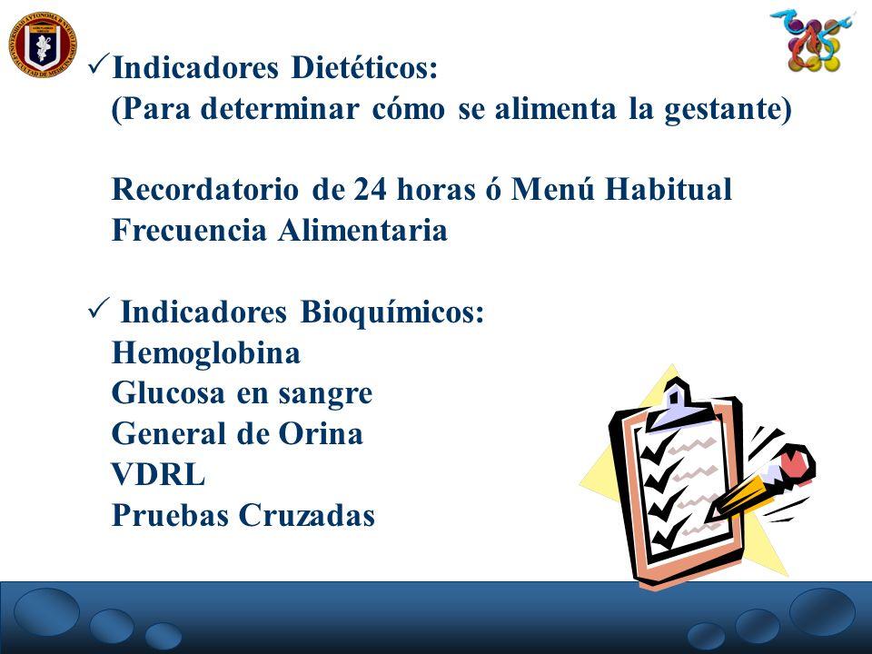 Indicadores Dietéticos: