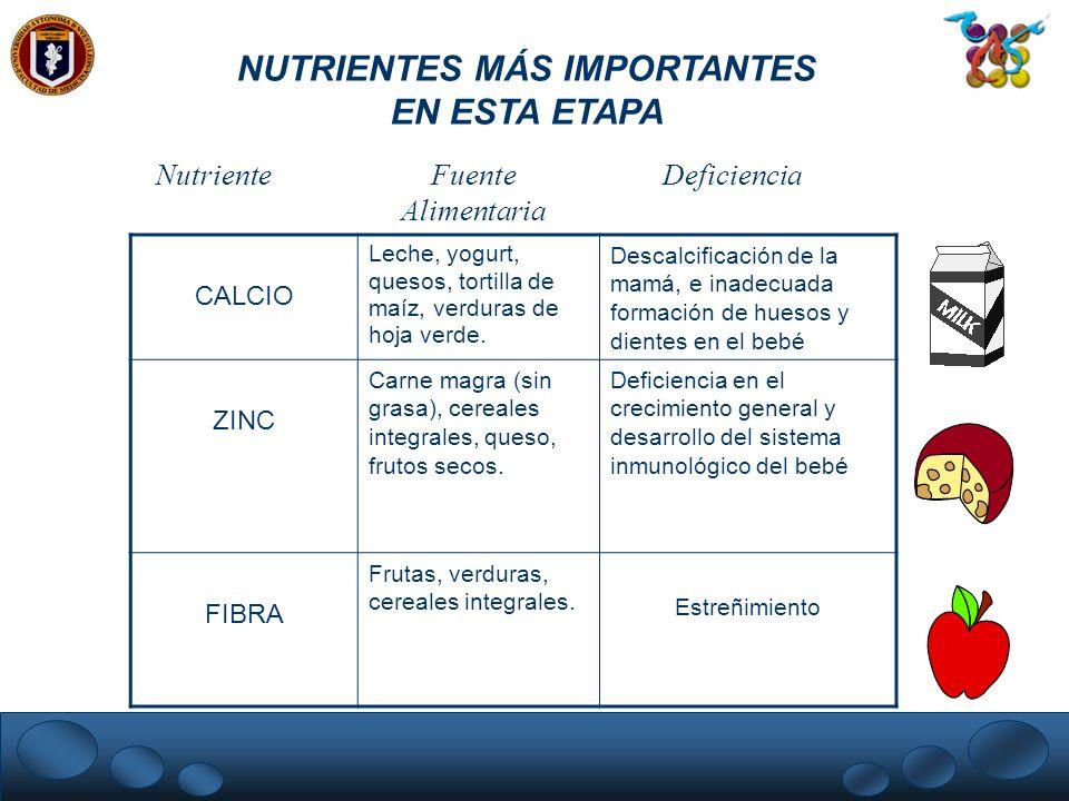 NUTRIENTES MÁS IMPORTANTES