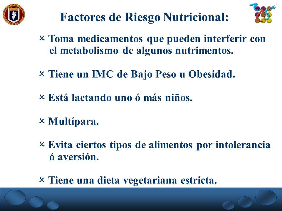 Factores de Riesgo Nutricional: