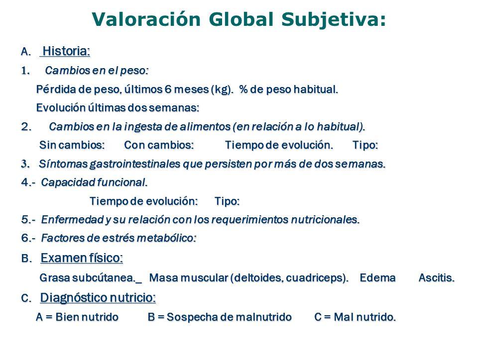 Valoración Global Subjetiva:
