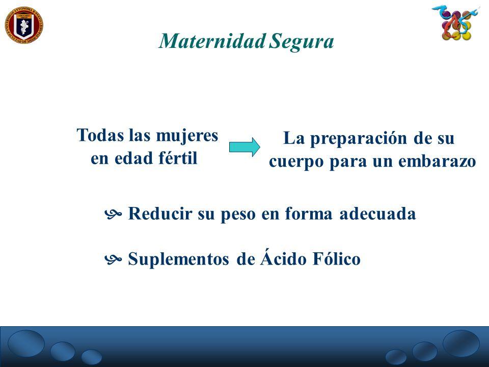 Maternidad Segura Todas las mujeres La preparación de su