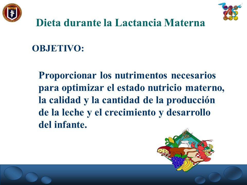 Dieta durante la Lactancia Materna