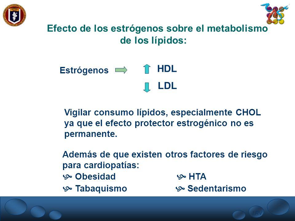Efecto de los estrógenos sobre el metabolismo de los lípidos: