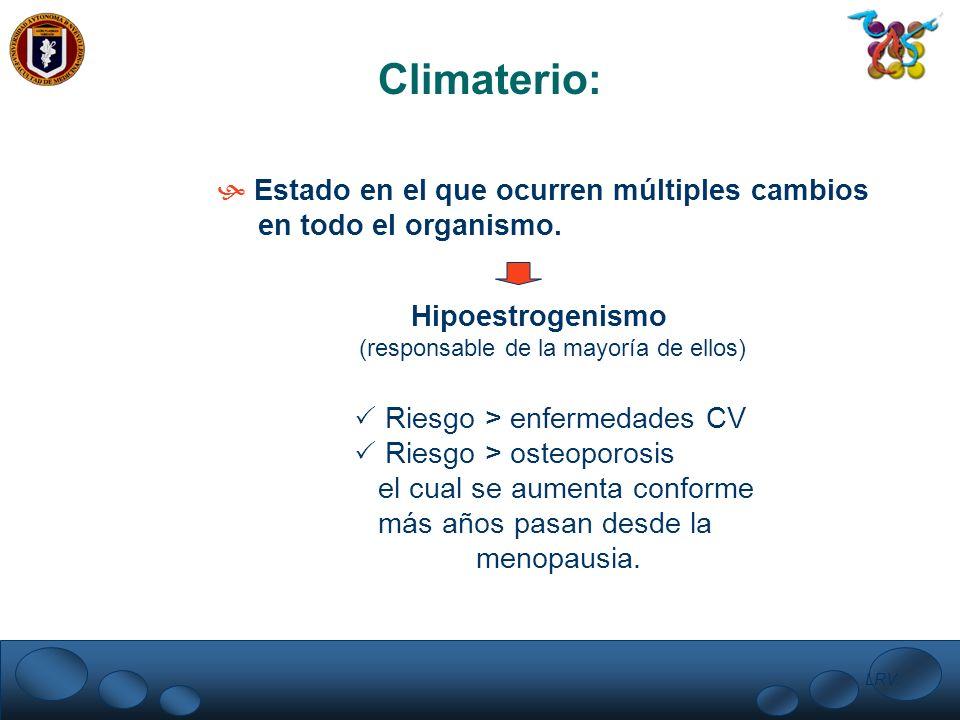 Climaterio: Estado en el que ocurren múltiples cambios