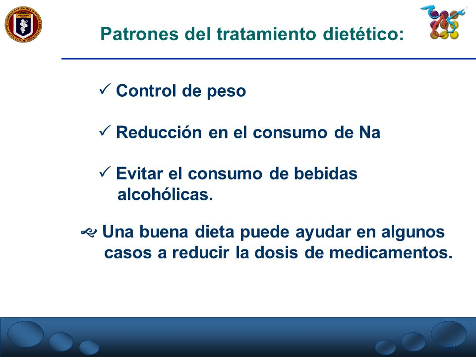 Patrones del tratamiento dietético: