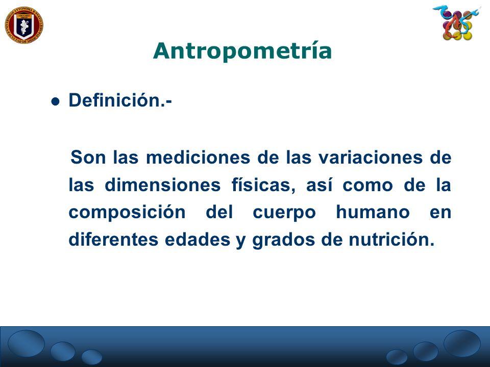 Antropometría Definición.-