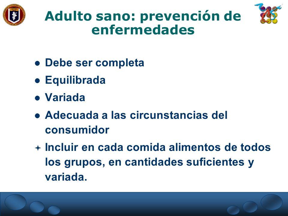 Adulto sano: prevención de enfermedades