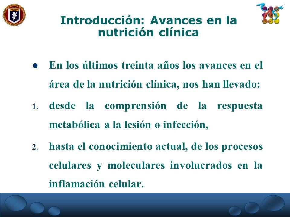 Introducción: Avances en la nutrición clínica