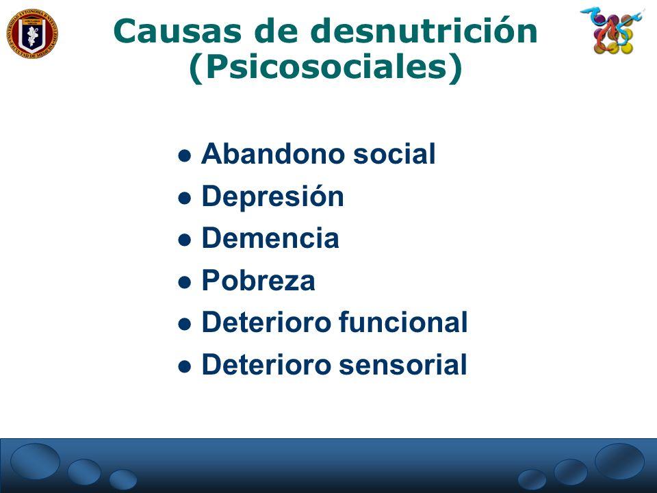 Causas de desnutrición (Psicosociales)