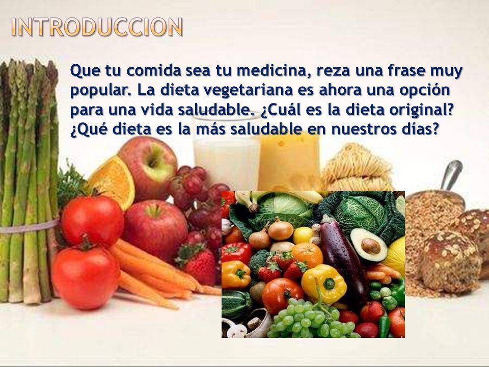 Que tu comida sea tu medicina, reza una frase muy popular