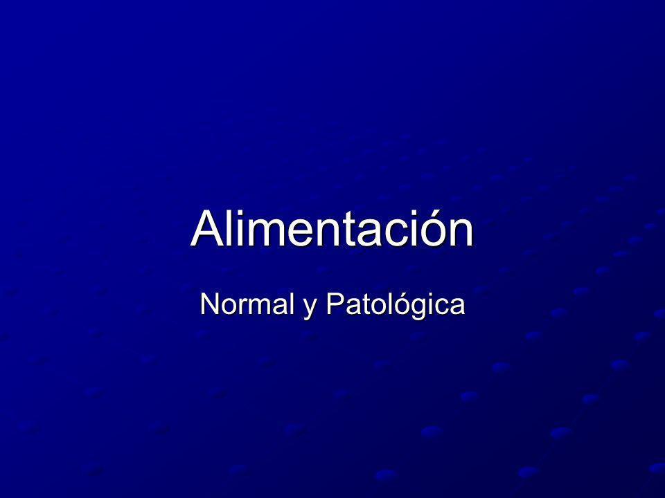 Alimentación Normal y Patológica