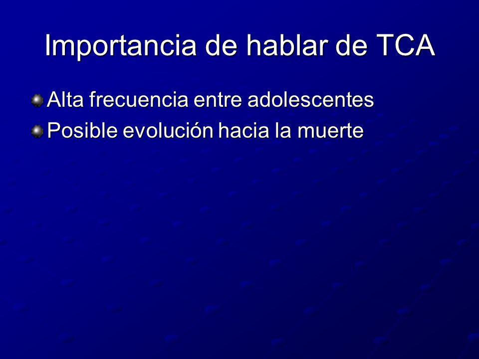 Importancia de hablar de TCA