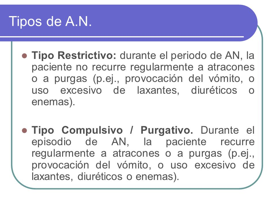 Tipos de A.N.