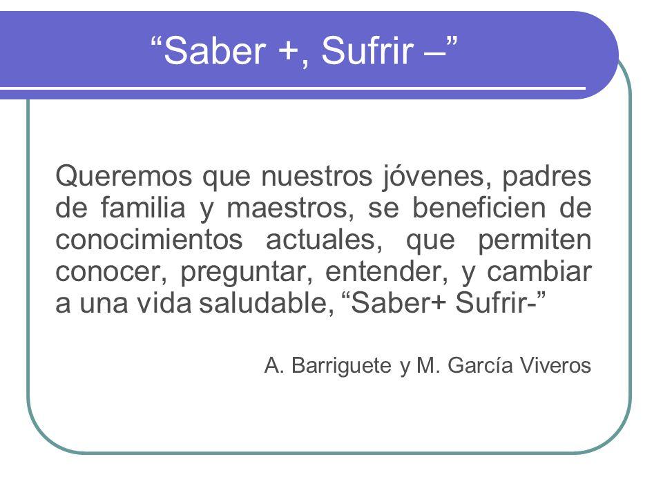 Saber +, Sufrir –