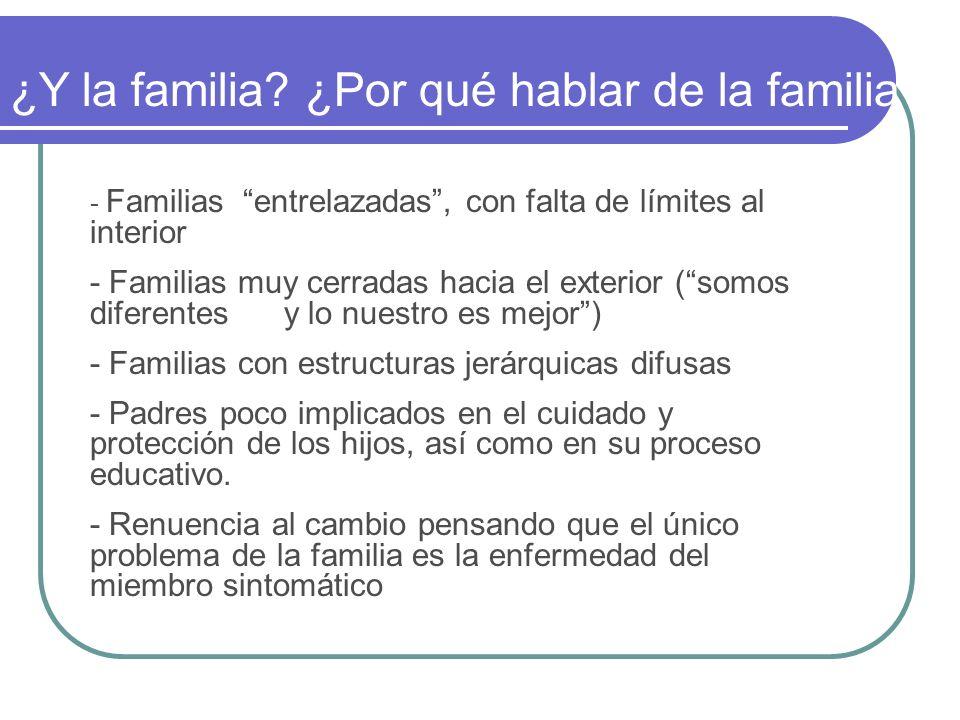 ¿Y la familia ¿Por qué hablar de la familia