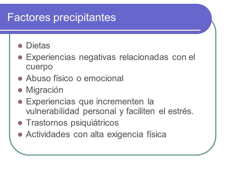 Factores precipitantes
