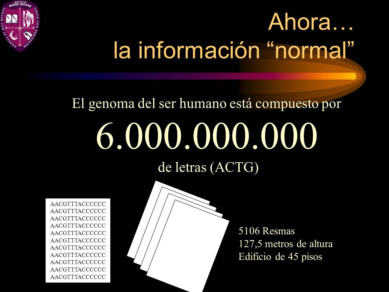 Ahora… la información normal