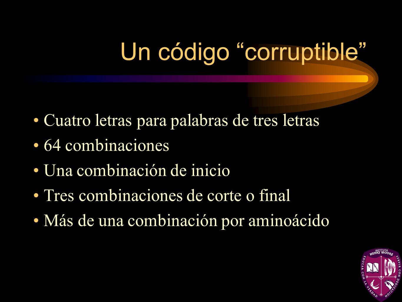 Un código corruptible