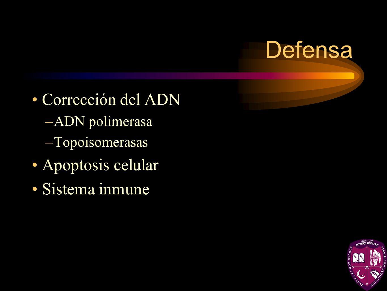 Defensa Corrección del ADN Apoptosis celular Sistema inmune