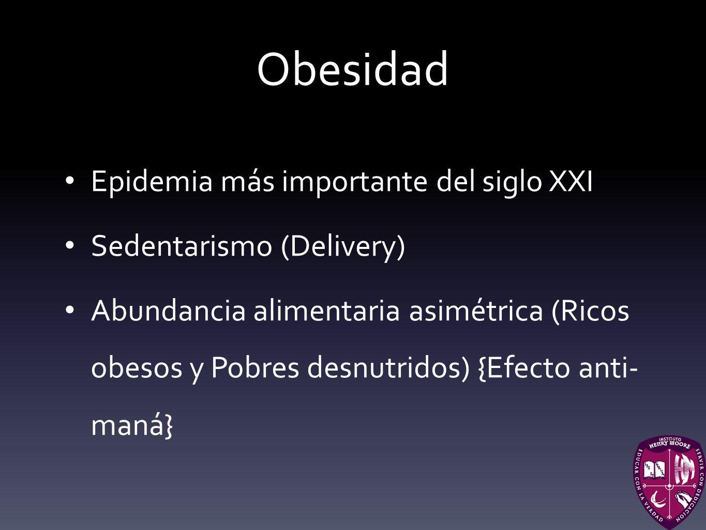Obesidad Epidemia más importante del siglo XXI Sedentarismo (Delivery)