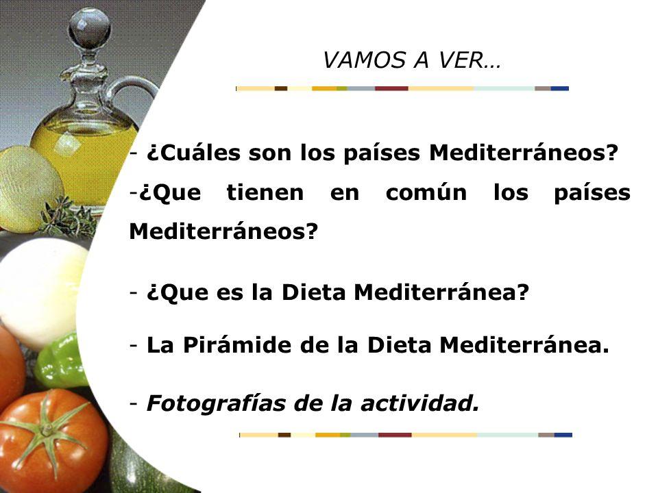 VAMOS A VER… ¿Cuáles son los países Mediterráneos