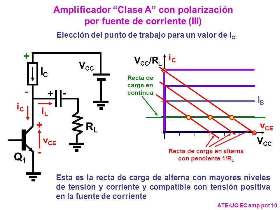 Amplificador Clase A con polarización por fuente de corriente (III)