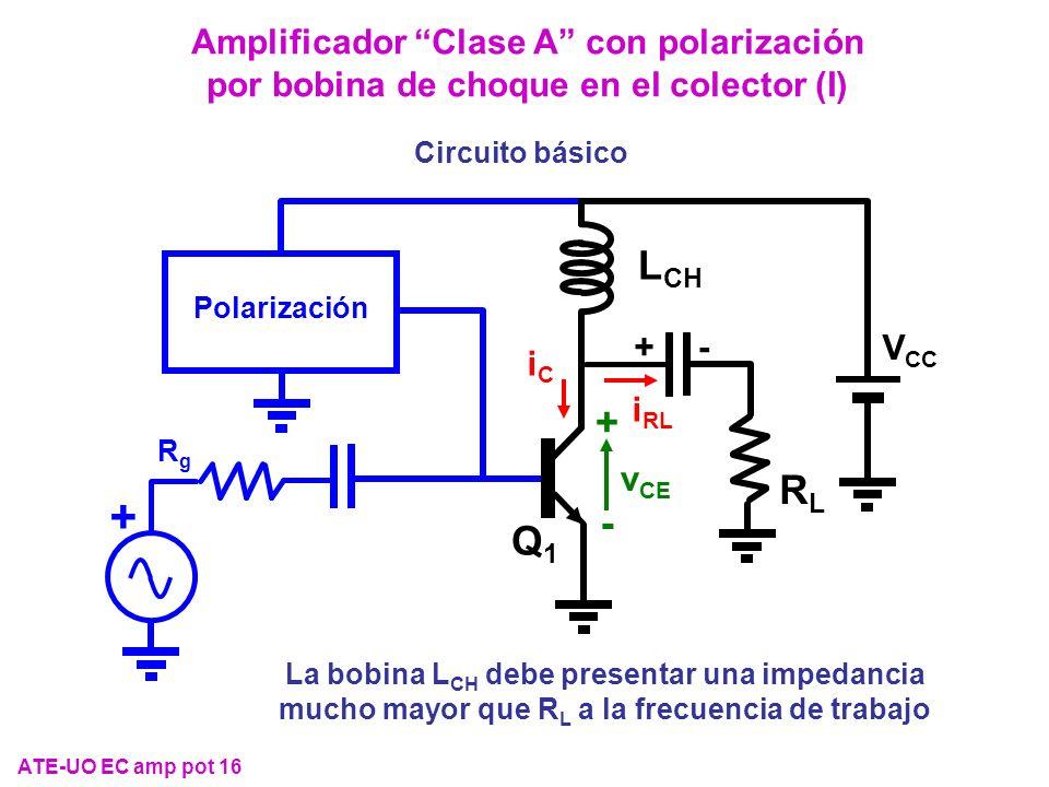 Amplificador Clase A con polarización por bobina de choque en el colector (I)