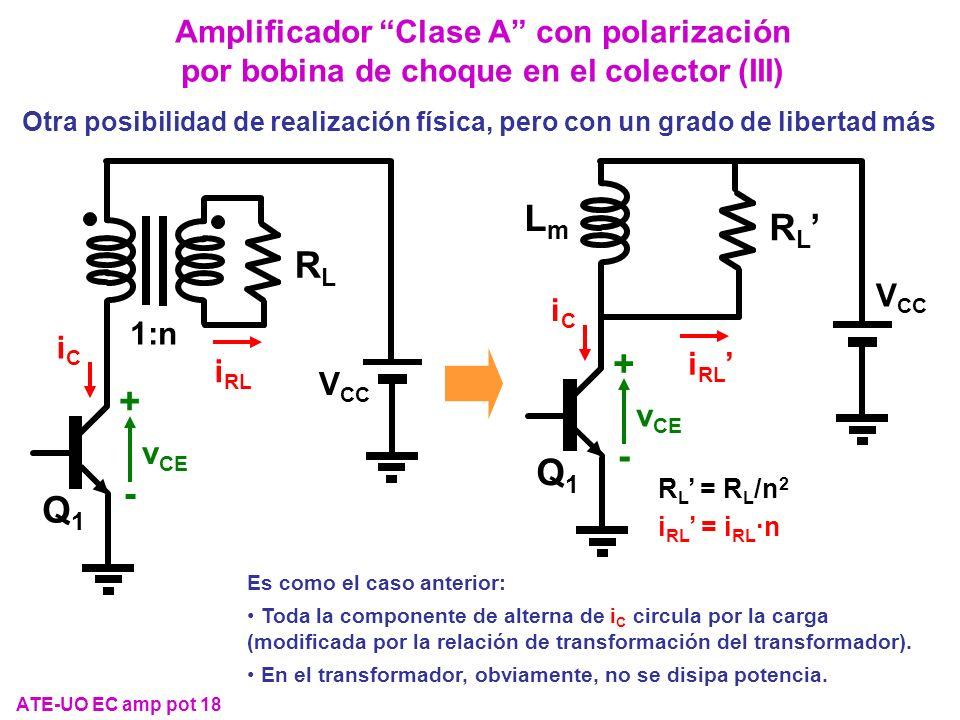 Amplificador Clase A con polarización por bobina de choque en el colector (III)