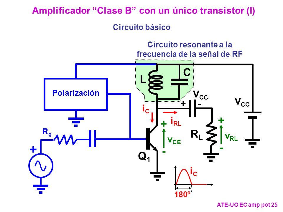 Amplificador Clase B con un único transistor (I)