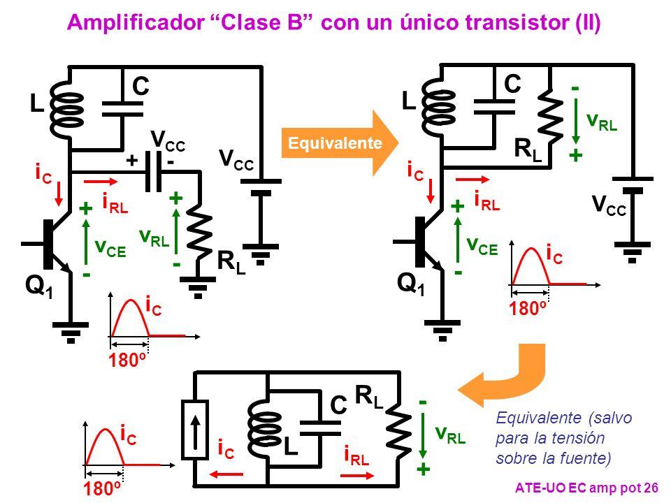 Amplificador Clase B con un único transistor (II)
