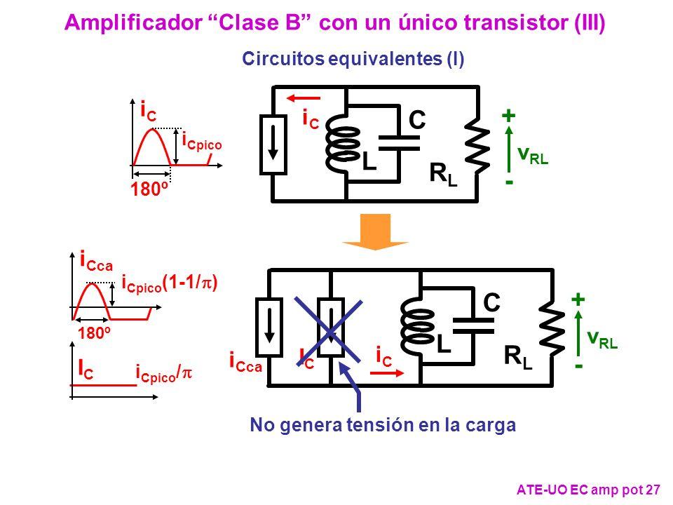 Amplificador Clase B con un único transistor (III)