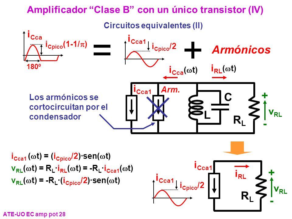 = + Armónicos + C L RL - + RL -