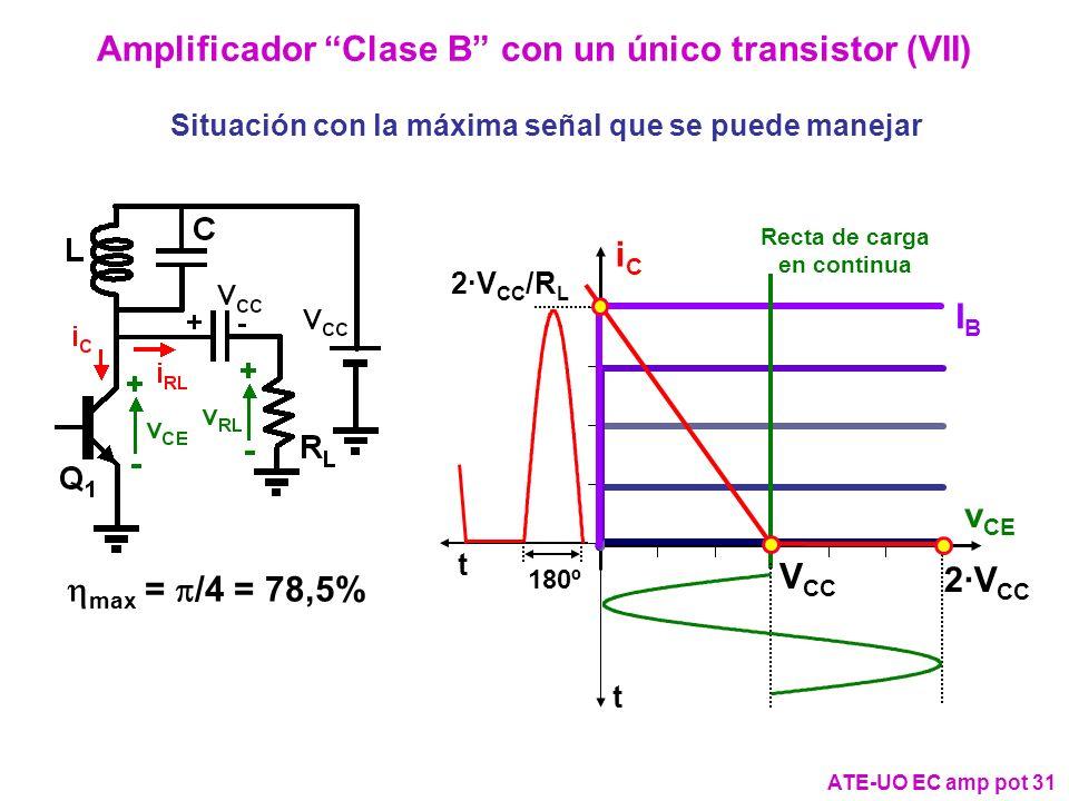 Amplificador Clase B con un único transistor (VII)