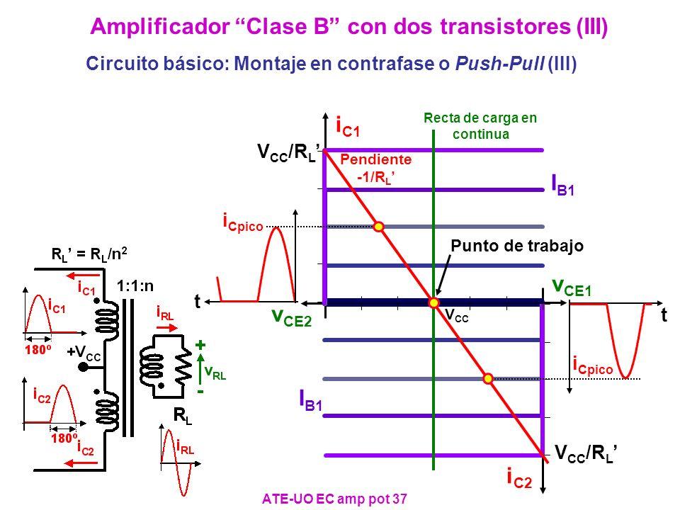 Amplificador Clase B con dos transistores (III)