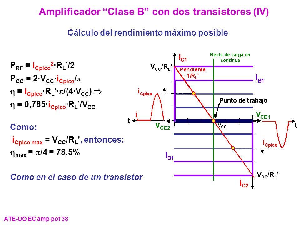 Amplificador Clase B con dos transistores (IV)