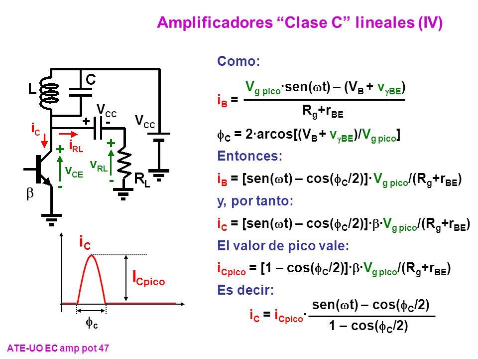 Amplificadores Clase C lineales (IV)